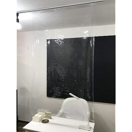 透明ビニールカーテン 透明カーテン 透明シート ビニールシート 加工済み 95m X158cm 吊り下げ金具3個付属 日本製