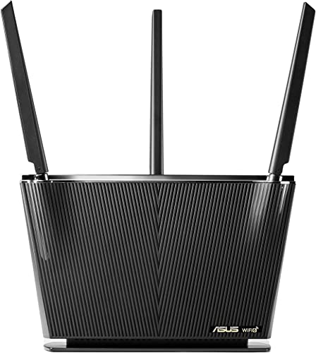 ASUS WiFi 6 Router (RT-AX68U) - Dual Band Gigabit Wireless Router 3x3 Support Gaming & Streaming AiMesh Compatible Included Lifetime Internet Security Parental Control MU-MIMO OFDMA