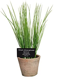 Esschert Design Artificial Herb Plant, Chives, Large