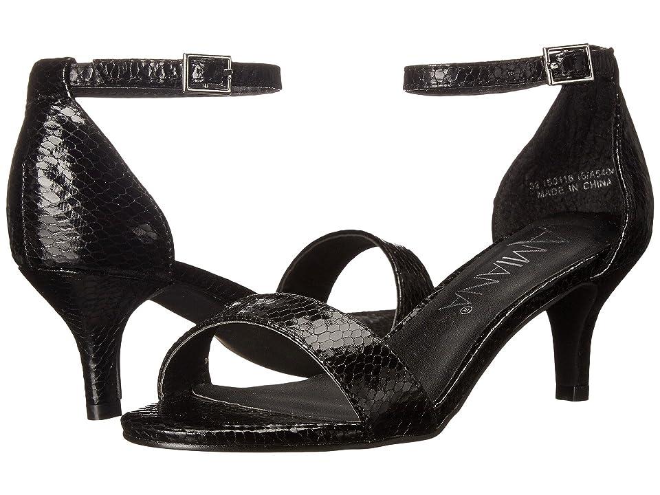 Amiana 15-A5404 (Little Kid/Big Kid/Adult) (Black Snake) Girls Shoes