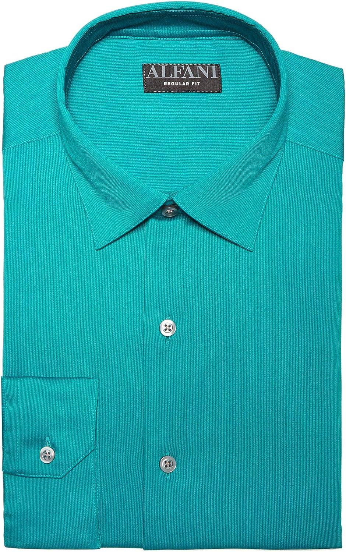 Alfani Mens Teal Collared Dress Shirt XXL 18-18.5 36/37