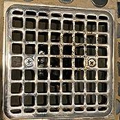 Kohler K-9136-BN Square Design TileIn Shower DrainFinish Vibrant Brushed Nickel