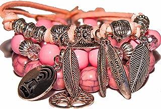 Charm bracelets women, Fashion bracelets, three sets, Love bracelets, Mindfulness bracelet, Meditation set bracelet for he...