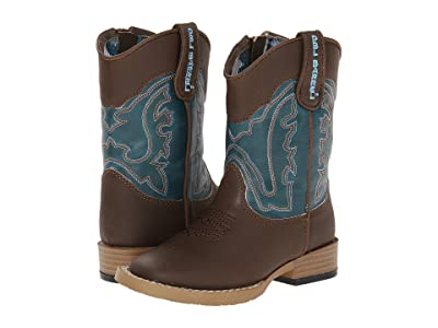 M&F Western Kids Open Range (Toddler) (Brown/Turquoise) Cowboy Boots