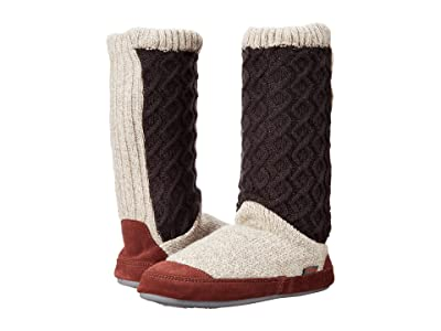 Acorn Slouch Boot (Charcoal Cable Knit) Women
