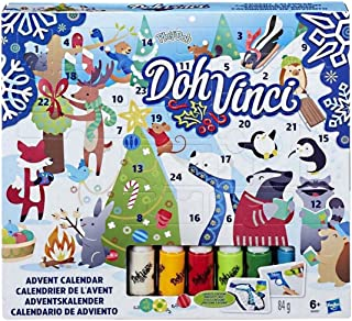 Hasbro Play-Doh Doh Vinci Advent Calendar - Fun Countdown To December 25 - Design and Display in 3D - Every Door Holds a Special Surprise - Family Creativity Time - Includes Over 24 Pieces