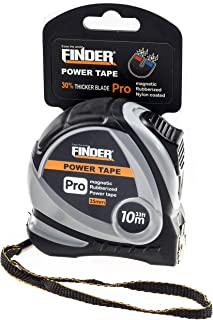 Finder 33ft(10m) Tape Measure inch/cm Metric,Inches and Sturdy Retractable Professional Measurement with Magentic Hook,fast read,Heavy Duty Front side Ruler Durable for Intensive Use Extra Long
