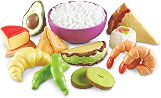 Learning Resources New Sprouts Multicultural Play Food Set, 15 Pieces, Ages 18 Months+
