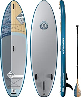 Boardworks SHUBU Kraken All-Water/Surf Inflatable Stand-Up Paddle Board (iSUP)   SUP Package Includes Pump, Three Piece Paddle and Roller Bag (SUP)
