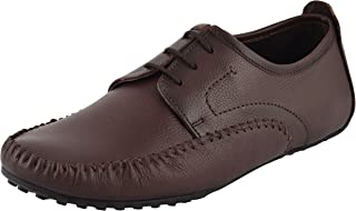 CHAMOIS Men's Leather Lace-Up Flats