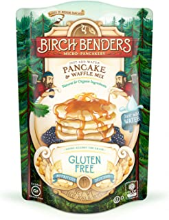 Gluten-Free Pancake and Waffle Mix by Birch Benders, Made with Organic Brown Rice Flour, Potato, Cassava, Hazelnut, and Cane Sugar, 14 Ounce