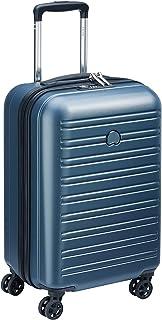 DELSEY PARIS - SEGUR 2.0 - Valise cabine rigide à double roues et serrure TSA intégrée - 55cm, 42.9L, Bleu