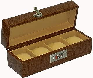 Laveri Genuine Leather Designer 4 Watch Box