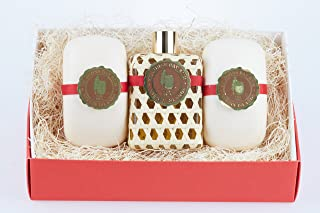 Bay Rum by St Johns 3 Piece Mens Gift Set. One 4 Oz Bay Rum Aftershave Splash / Cologne and 2 Bay Rum Luxury Bath Soap Bars For Men. Handcrafted in U.S.V.I with Premium Bay Leaf Oils, Caribbean Spice.