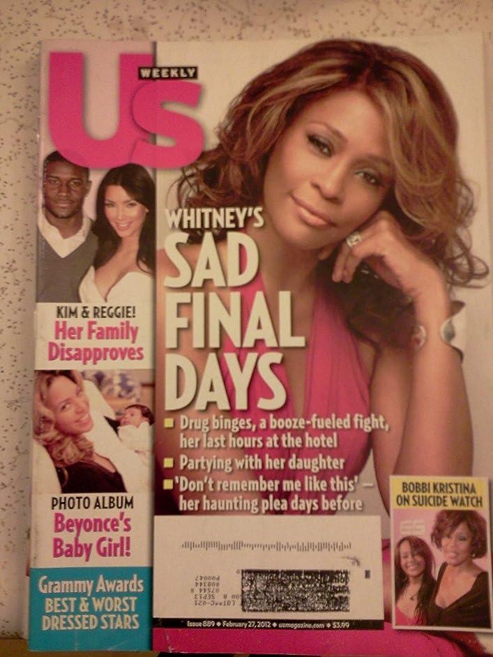 Us Weekly Magazine February 27, 2012, WHITNEY'S SAD FINAL DAYS