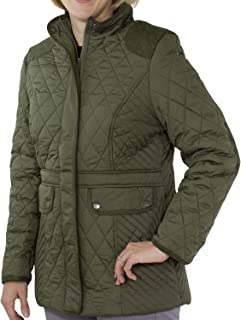 totes Women's Mid Length Quilted Jacket Forest