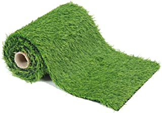 ECO MATRIX Artificial Grass Table Runners Fake Grass Tabletop Synthetic Grass Rug Green Turf Carpet for Home Party Wedding Decor (1.31'x 4.92')