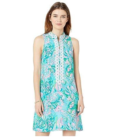 Lilly Pulitzer Jane Shift Dress (Blue Ibiza Aqua La Vista) Women