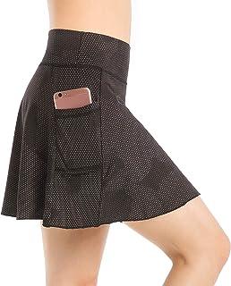 Nidalee Women's Tennis Skirt Active Sports Running Golf Skort with Pocket