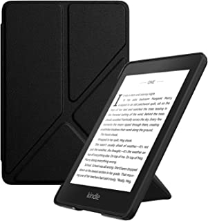 ATiC Amazon Kindle Paperwhite 2018 ケース Newモデル 第10世代用カバー オートスリープ機能付き 折り紙 スタンド 軽量 薄型 ブラック