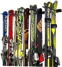 StoreYourBoard Omni Ski and Snowboard Wall Storage Rack, Holds 10 Pairs, Ski Wall Mount, Home and Garage Storage Hanger