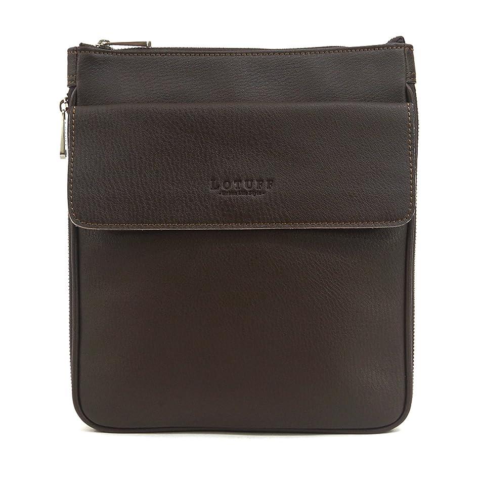 神秘的な脱臼するウィンクLOTUFF(ロトプ) 4 Color シンプルクロスバッグレザーバッグメンズレディースLO-3201 メンズ レディース Leather Cross Bag [並行輸入品]