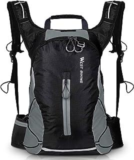 Mochila de ciclismo con funda impermeable para la lluvia, para hombre, mujer, para viajes, camping, senderismo