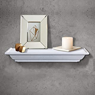 Shelving Solution Level Line Wall Shelf (White with 2 Frames)