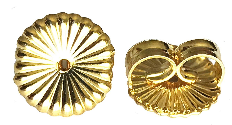 14K Gold Ear Locking Earring Backs - 2 Parts