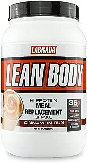 Labrada Nutrition Lean Body Hi-Protein Meal Replacement Shake, Cinnamon Bun, 2.47 Pound