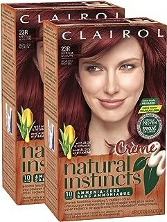 Clairol Natural Instincts, 23R, Rasberry Creme, Medium Auburn, 2 pk