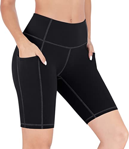 Heathyoga Workout Shorts for Women with Pockets Biker Shorts for Women High Waist Yoga Shorts for Women Running Shorts