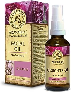Aceite Facial 50ml - 100% Puro y Natural - Aceite Facial con Aceite de Jojoba y Rosa - Cuidado Rejuvenecedor para Todo Tip...