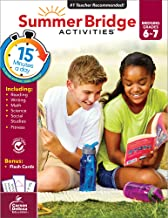 Summer Bridge Activities Workbook―Bridging Grades 6 to 7 in Just 15 Minutes a Day, Reading, Writing, Math, Science, Social Studies, Summer Learning Activity Book With Flash Cards (160 pgs)