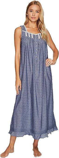 Eileen West - Chambray Clip Dot Ballet Nightgown