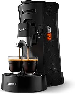 Philips CSA240/21 Machine à Café à Dosettes SENSEO Select, Intensity Plus, Crema Plus, Fonction Memo - Noir avec effet mou...