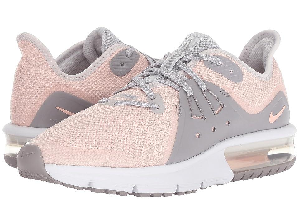 Nike Kids Air Max Sequent 3 (Big Kid) (Vast Grey/Crimson Tint/Atmosphere Grey) Girls Shoes
