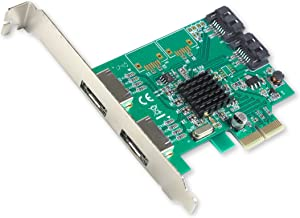 I/O CREST 2 Port SATA III and 2 Port eSATA III PCI-e 2.0 x2 Non RAID Hard Drive Controller Card Marvell 9235 Chipset