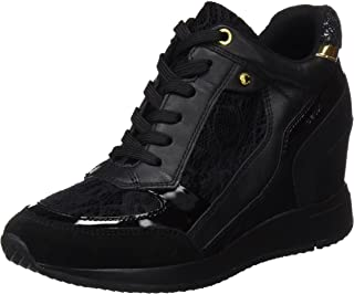 GEOX D Nydame A Womens Wedged Heeled Nappa Leather Trainers/Boots