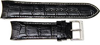 Swiss Legend 26MM Black Alligator Grain Leather Watch Band Strap fits 45mm Traveler Watch, Silver Buckle
