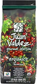 Juan Valdez Coffee Organic Gourmet Medium Roast Ground Colombian Coffee ,10 oz