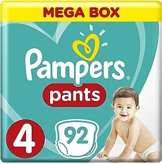 حفاضات بامبرز قياس 4 ماكسي، للاطفال بوزن 9-14 كغم، عبوة ميغا، 92 حفاضة