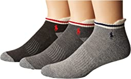 Polo Ralph Lauren - 3-Pack Monkey Athletic Low Cut with Pull Tab