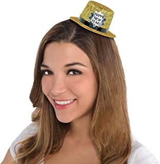 amscan Happy New Year Glitter Plastic Mini Top Hat | Party Accessory