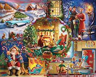 White Mountain Puzzles Christmas Traditions - 1000 Piece Jigsaw Puzzle