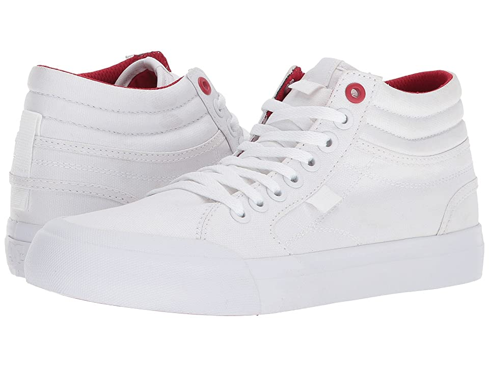 DC Evan Hi TX SE (White/White/True Red) Women