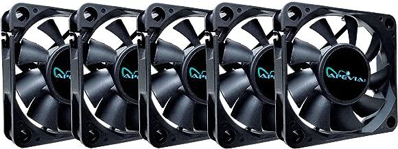 APEVIA 60mm x 60mm x15mm Black Case Fan W/4PIN Molex + 3PIN Motherboard Adapter CF6015S-5 (5 Pk)