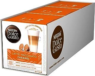 Nescafé Dolce Gusto Caramel Latte Macchiato, Paquete de 3, 3 x 16 Cápsulas