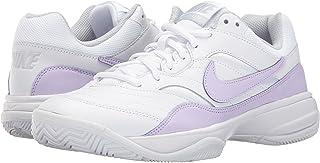 (ナイキ) NIKE レディーステニスシューズ?スニーカー?靴 Court Lite White/Violet Mist/Pure Platinum 9.5 (26.5cm) B - Medium