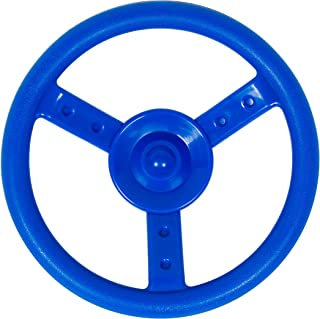Swingset Steering Wheel Attachment Playground Swing Set Accessories Replacement (Blue)